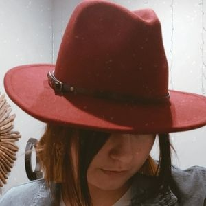 UO Red Panama Hat
